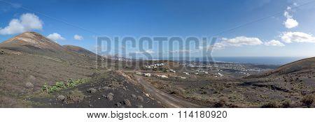 Lanzarote - Panorama around the village Macher