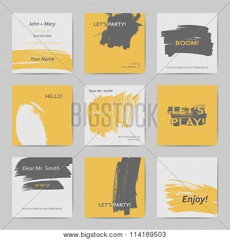 Abstract postcard templates