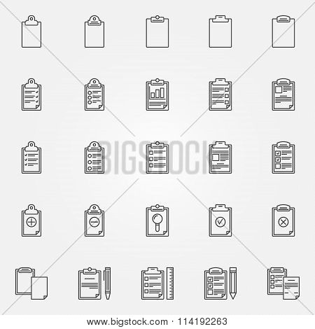 Clipboard icons set