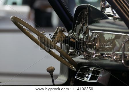 Zoom Car Console With Steering Wheel In Car Show Event