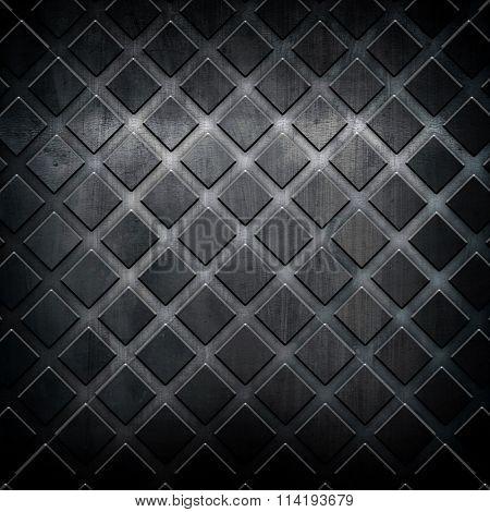 black metal grid background