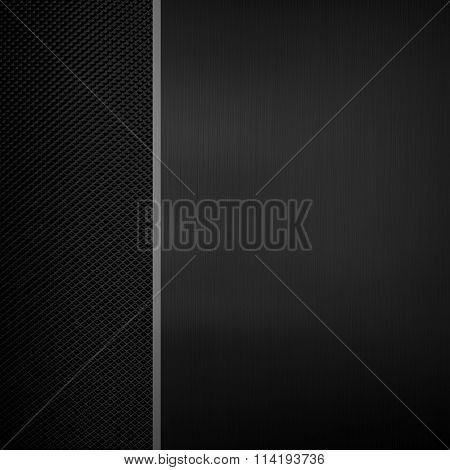 black metal plate with metal mesh background