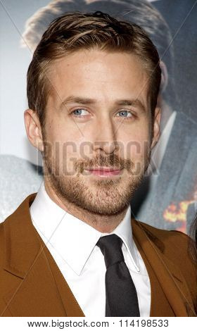 LOS ANGELES, CALIFORNIA - January 7, 2013. Ryan Gosling at the Los Angeles premiere of 'Gangster Squad' held at the Grauman's Chinese Theatre in Los Angeles.