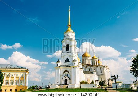The bell tower of the Dormition Cathedral, Vladimir. Russia.