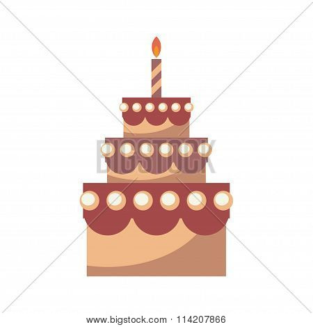 Birthday Cake Vector.