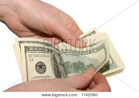 Counting 100 Dollars Bills