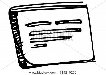 Vector Sketch Notebook Bound