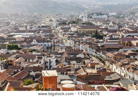 Aerial View Of Sucre, Bolivia