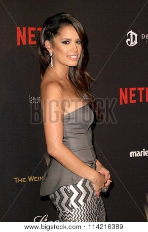 BEVERLY HILLS, CA - JAN. 10: Rocsi Diaz arrives at the Weinstein Company and Netflix 2016 Golden Globes After Party on Sunday, January 10, 2016 at the Beverly Hilton Hotel in Beverly Hills, CA.