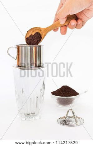 'Phin' traditional Vietnamese coffee maker