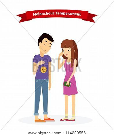 Melancholic Temperament Type People