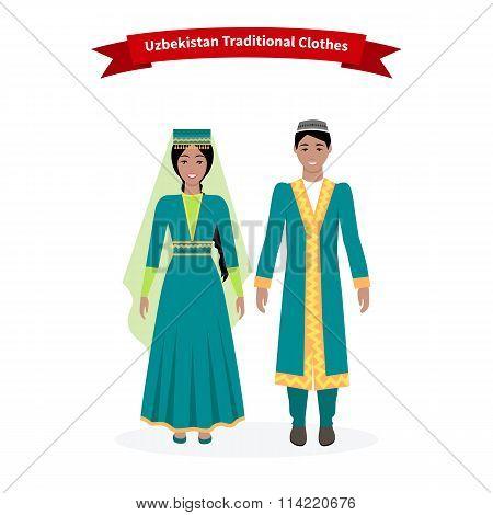Uzbekistan Traditional Clothes People