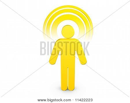 Yellow Spiritual Man With Visible Color Aura poster