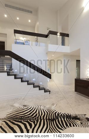 Hallway With Zebra Carpet