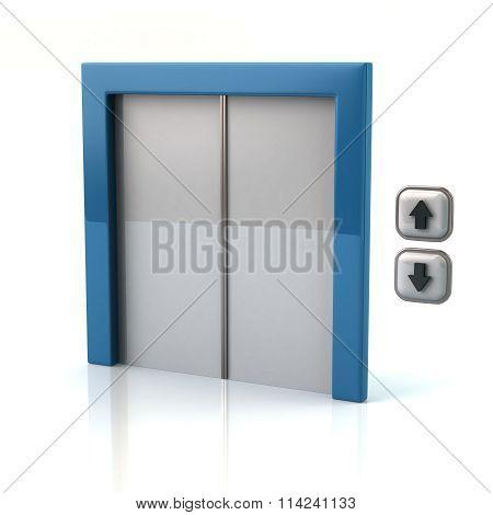 Illustration Of Blue Elevator