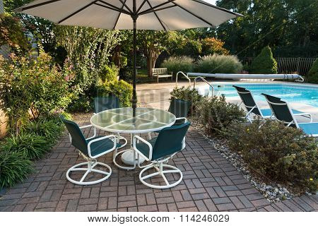 Landscaped Backyard Patio and Pool