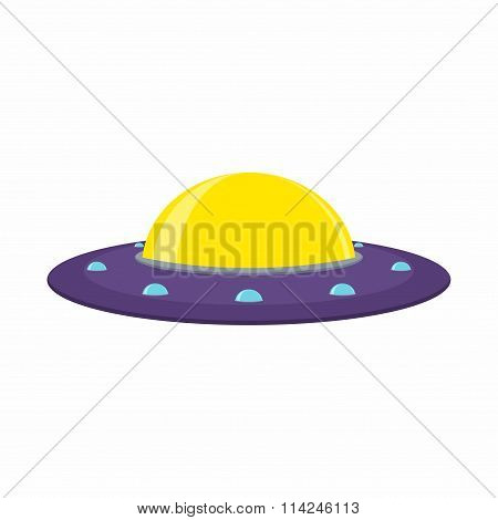 UFO and Flying Saucer, Spaceship on white background