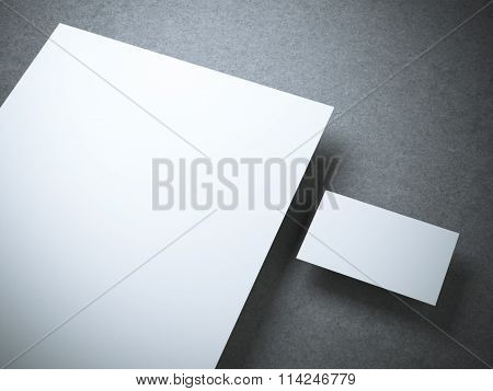 Blank mockup with business card