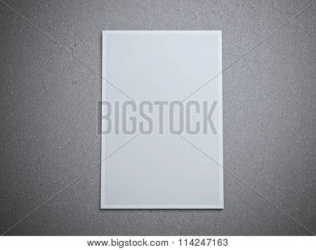 Blank paper sheet on floor.