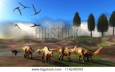 Dicraeosaurus Dinosaur Meadow