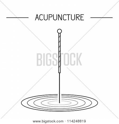 Vector dedicated to traditional Chinese medicine acupuncture. a method of stimulation of certain points on the body with needles poster
