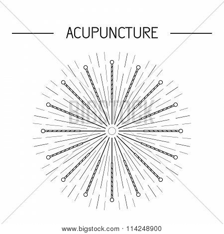 Vector Elements For Acupuncture And Massage, Tcm 06