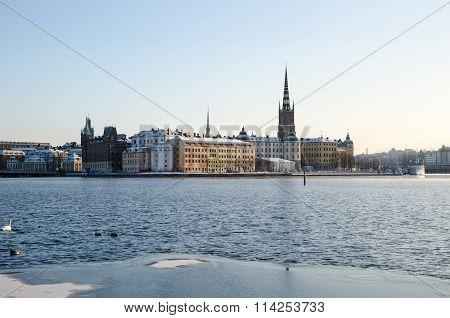 View At Riddarholmen In Stockholm