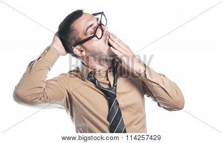 Man Yawning