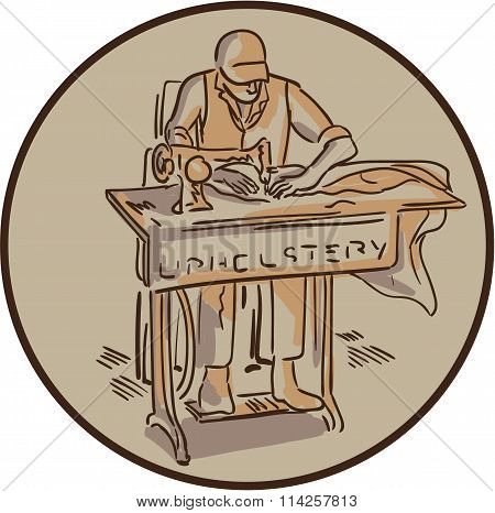 Tailor Upholsterer Sewing Machine Drawing