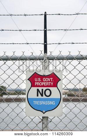 Warning Sign At Great Lakes Locks