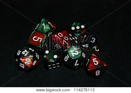 Red & Green Dice