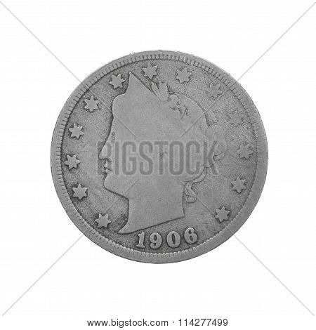 American Five Cent Coin