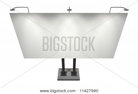 Blank Board for Advertisement, Isolated on White with Clipping Path