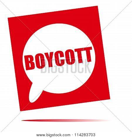 Boycott  Speech Bubble Icon