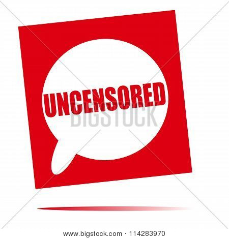 Uncensored Speech Bubble Icon