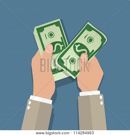 income concept. flat design