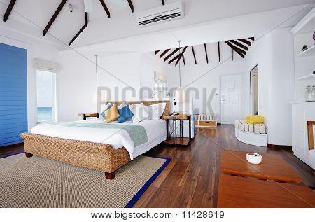 Vatten bungalows interiör