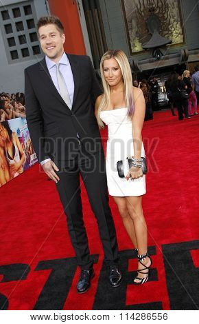 Scott Speer and Ashley Tisdale at the Los Angeles premiere of