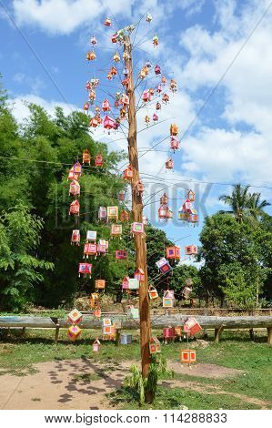ancient Thai decoration for worship guardian spirit of the forest