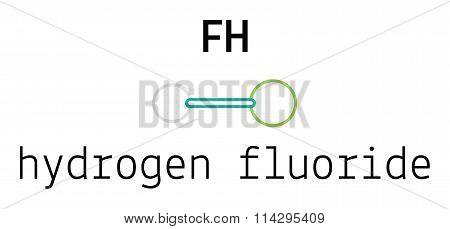HF hydrogen fluoride molecule