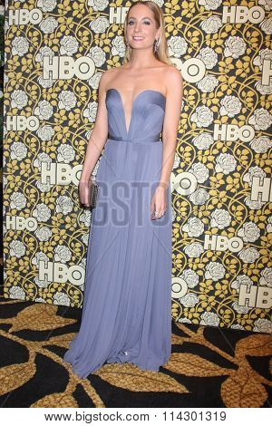 LOS ANGELES - JAN 10:  Joanne Froggatt at the HBO Golden Globes After Party 2016 at the Beverly Hilton on January 10, 2016 in Beverly Hills, CA