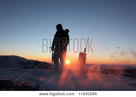 Central Balkan Mountains In Eastern Europe At Sunrise