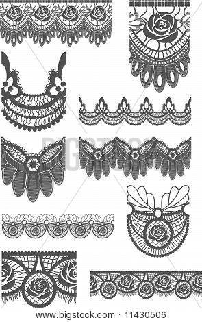 Vector Lace Trims & Brushes