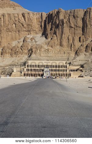 The Temple Of Hatshepsut In The Valley Of The Kings In Egyp