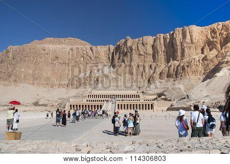 Tourists In Hatshepsut