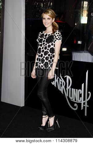 HOLLYWOOD, CALIFORNIA - March 23, 2011. Emma Roberts at the Los Angeles premiere of