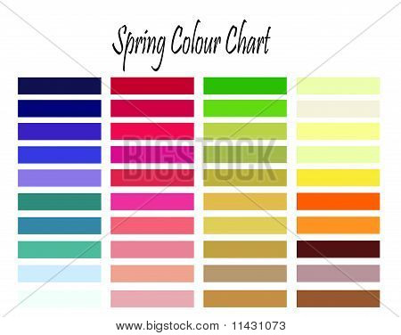 Spring Colour Chart