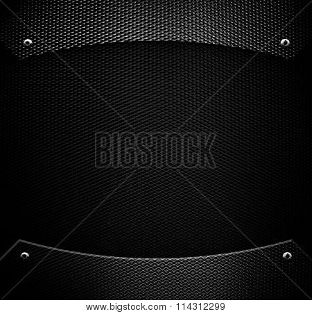 black metal mesh background