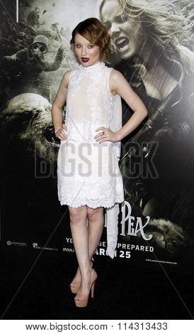 Emily Browning at the Los Angeles Premiere of