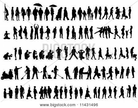 People Silhouettes Collection